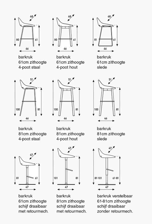 artifort beso barkruk specificaties