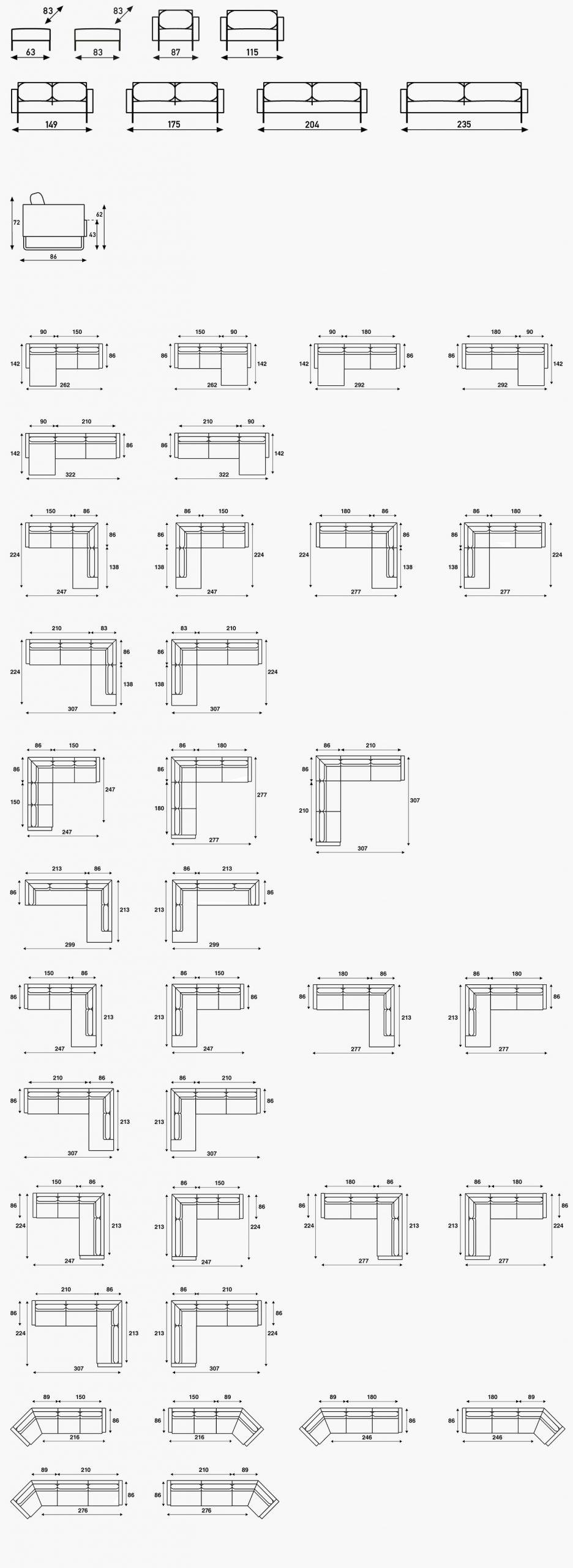 Artifort Mare sofa specificaties