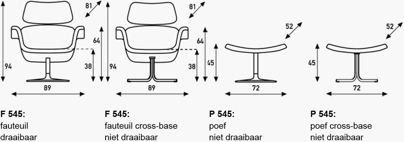 Artifort fauteuil tulip specificaties
