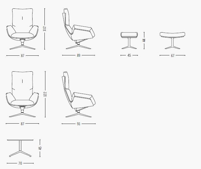 Cor, cordia lounge specificaties
