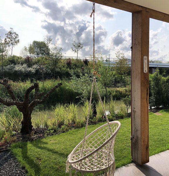 de projecten van eurohome en P&M new design, een villa in Maassluis, veranda