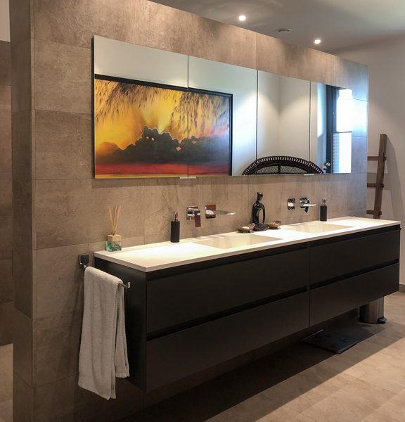 de projecten van eurohome en P&M new design, een villa in Maassluis, badkamer