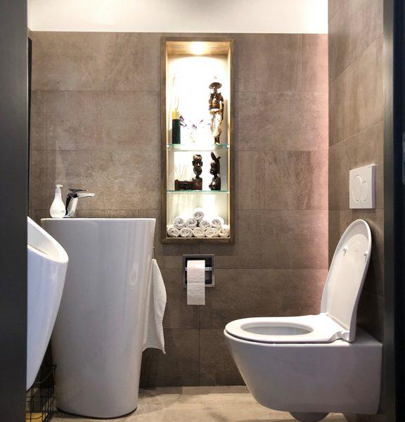de projecten van eurohome en P&M new design, een villa in Maassluis, toilet