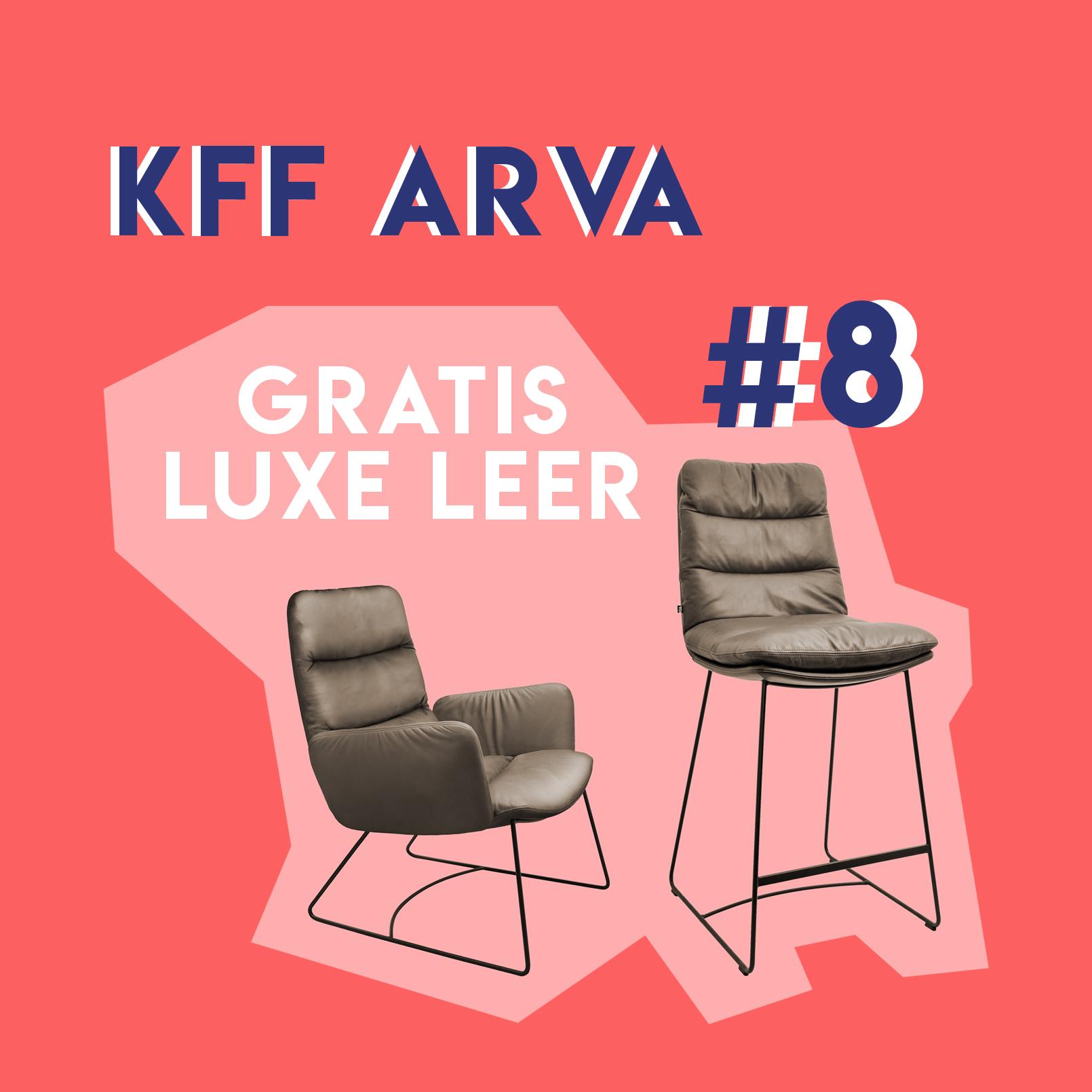 Arva fauteuil en barstoel van KFF
