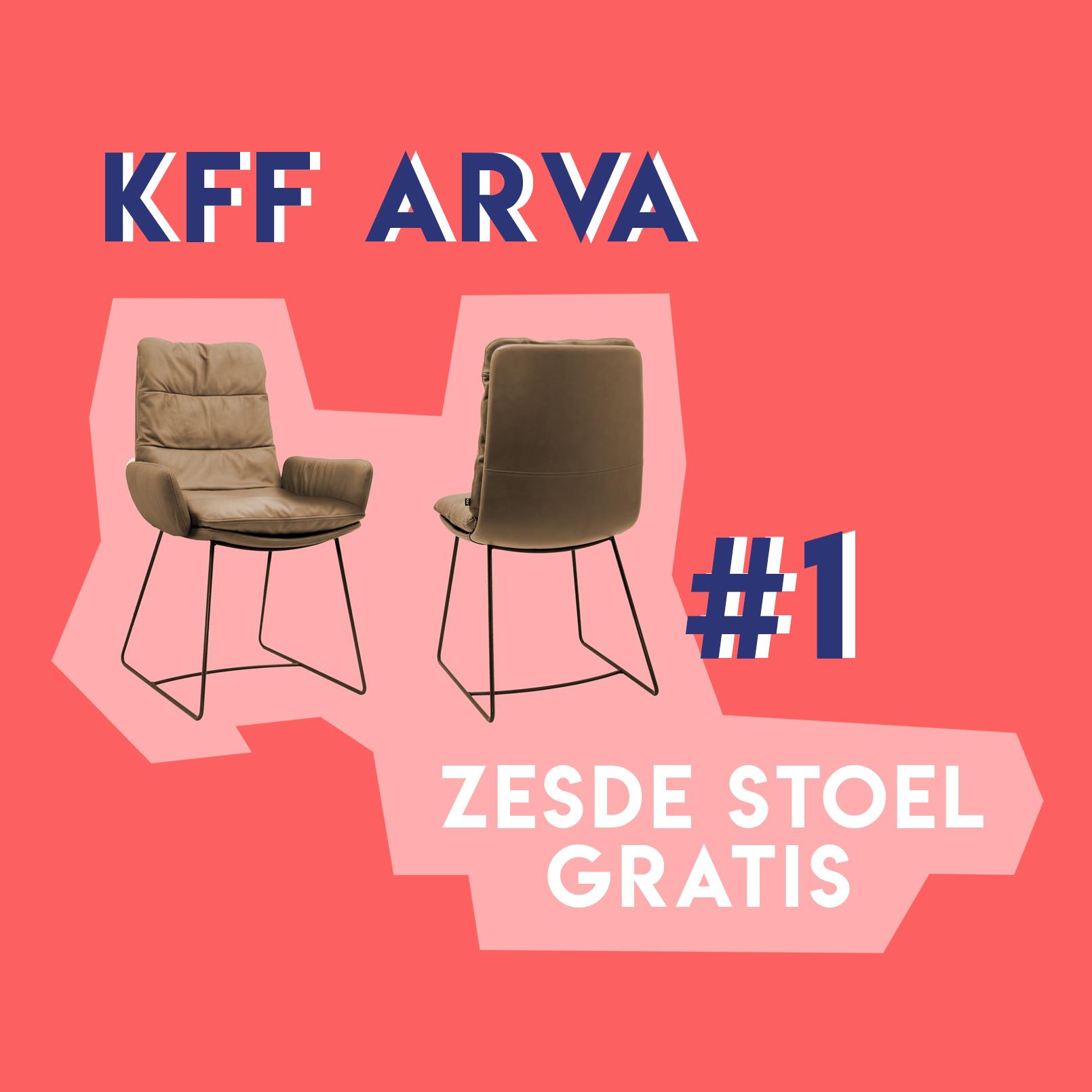 KFF Arva - zesde stoel gratis