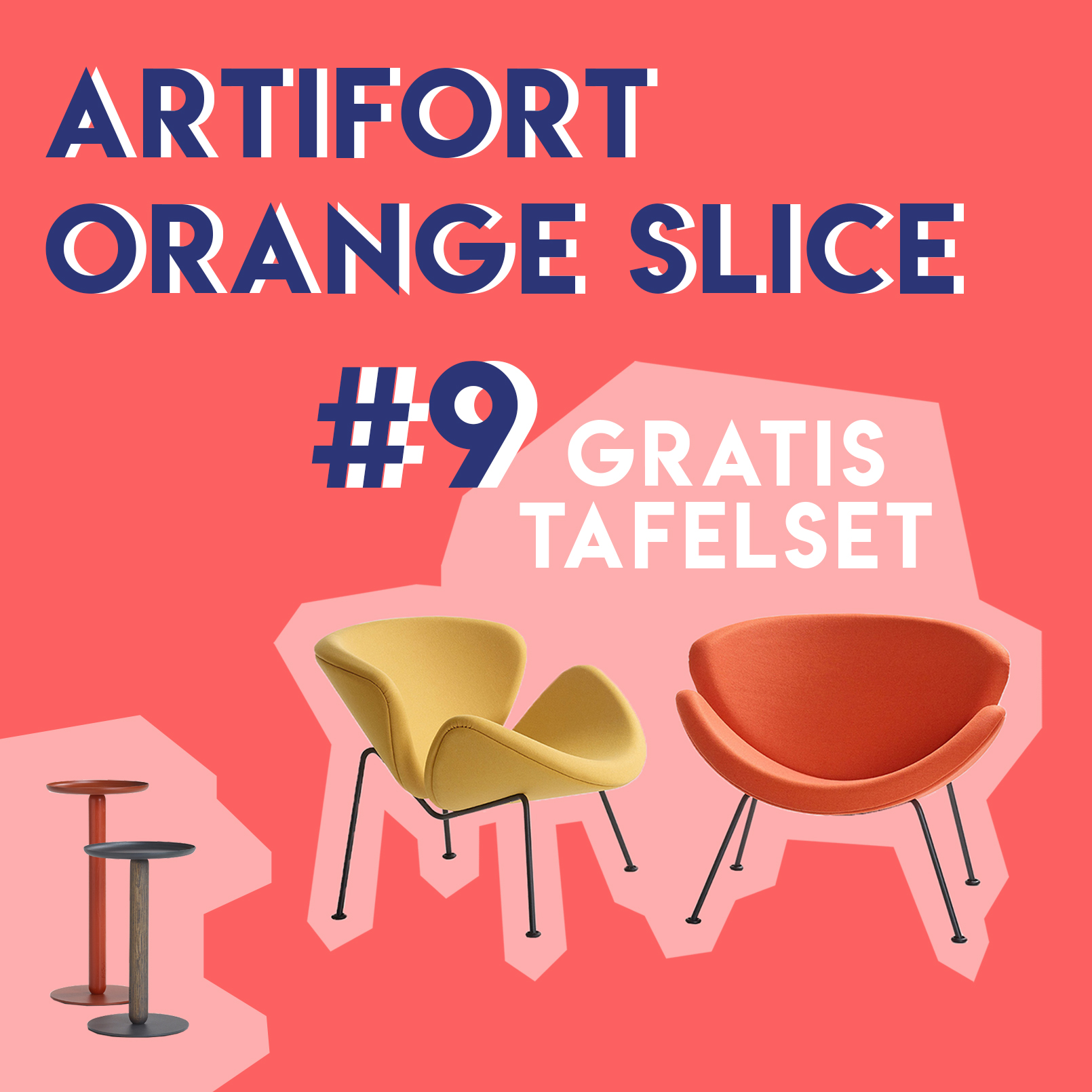 Orange Slice van Artifort