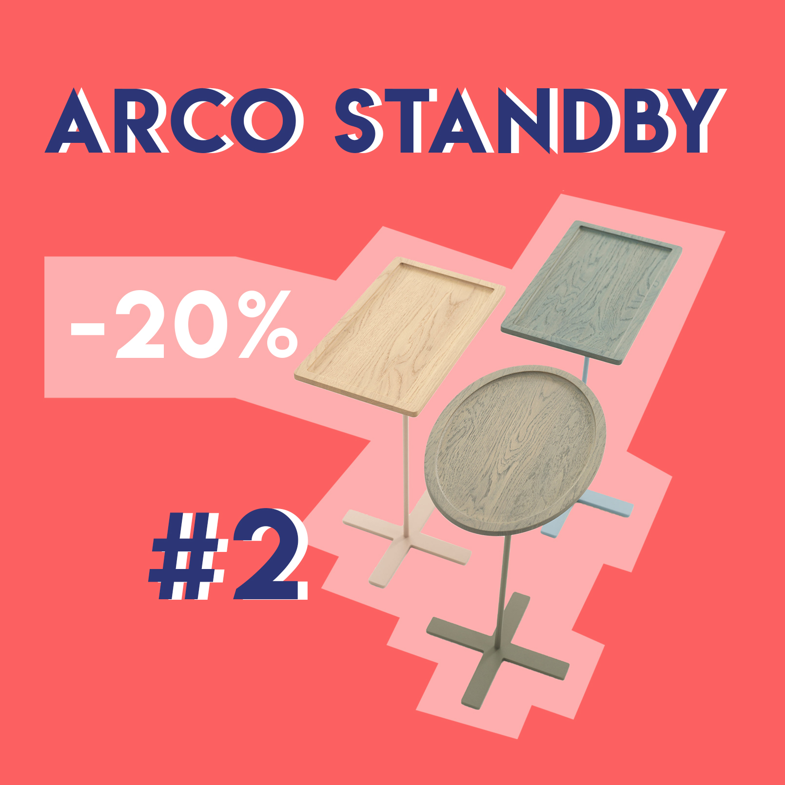 Bijzettafel Standby van Arco